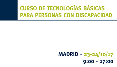 Course of basic technologies for people with disabilities