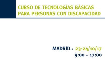 Curso de tecnologías básicas para personas con discapacidad